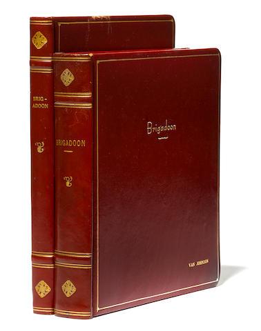 Van Johnson's bound working screenplay of Brigadoon, with a bound book of stills