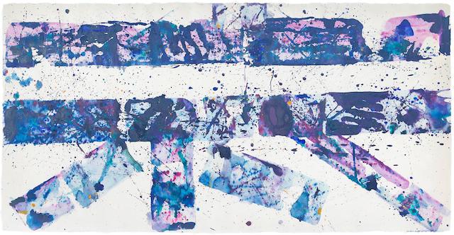 Sam  Francis (1923-1994) Untitled (SF77-121), 1977 36 3/4 x 72 in. (93.3 x 182.9 cm)