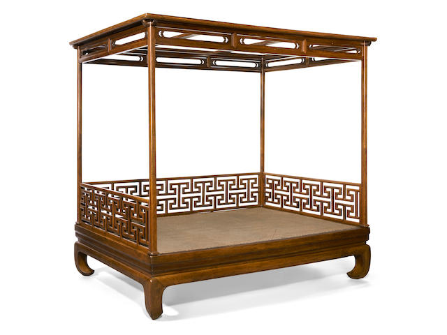 A rare huanghuali four-poster bed, Jiazichuang Late Ming dynasty