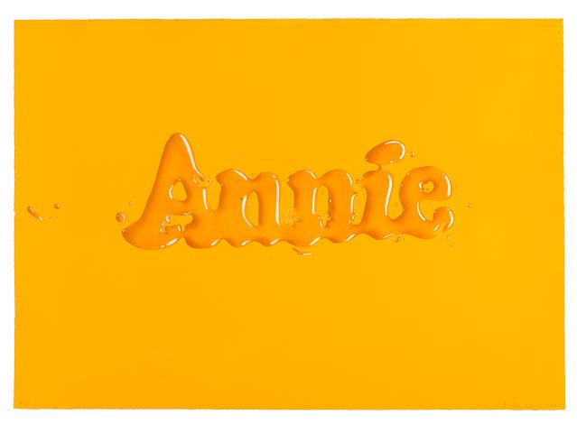 Edward Ruscha (born 1937); Annie;