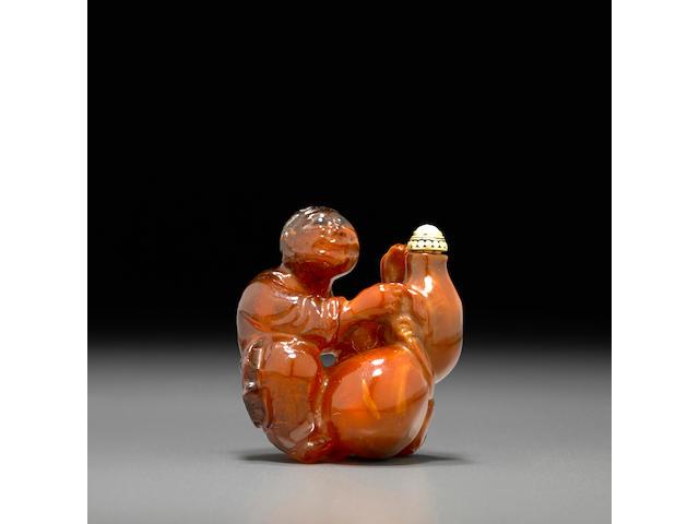 An amber snuff bottle 1770-1830