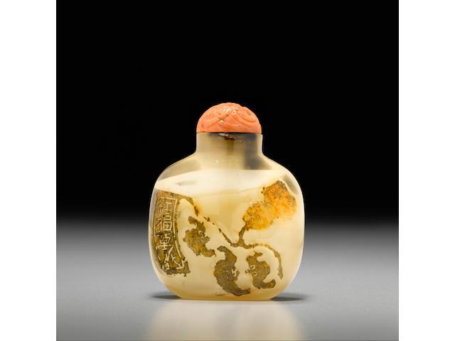 A shadow agate snuff bottle 1740-1860