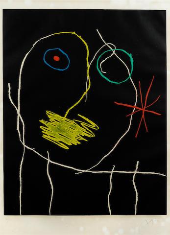 Joan Miró (1893-1983); Le prophète de la nuit;