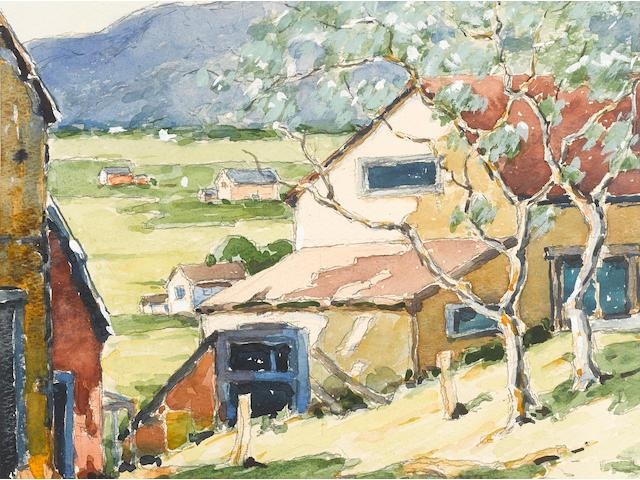 Walter Farndon (American, 1876-1964) Landscape 8 x 10in
