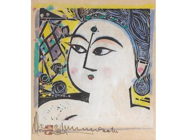 Munakata Shiko (1903-1975) One woodblock print