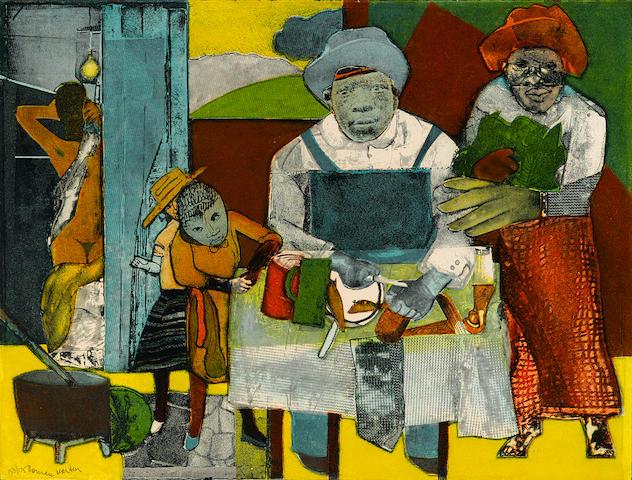 Romare Bearden (1914-1988); The Family;