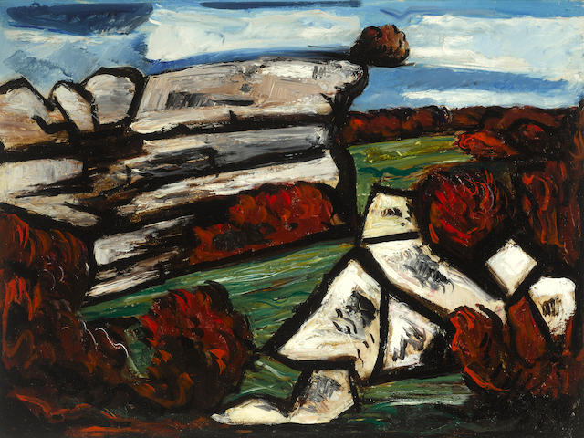 Marsden Hartley (1877-1943) Dogtown 18 x 24in (Painted in 1931.)