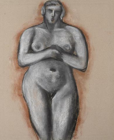 Marsden Hartley (1877-1943) Standing Woman 19 5/8 x 16in