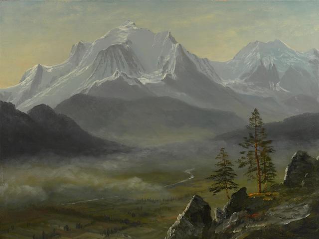 Albert Bierstadt (1830-1902) Mont Blanc 22 1/4 x 30in