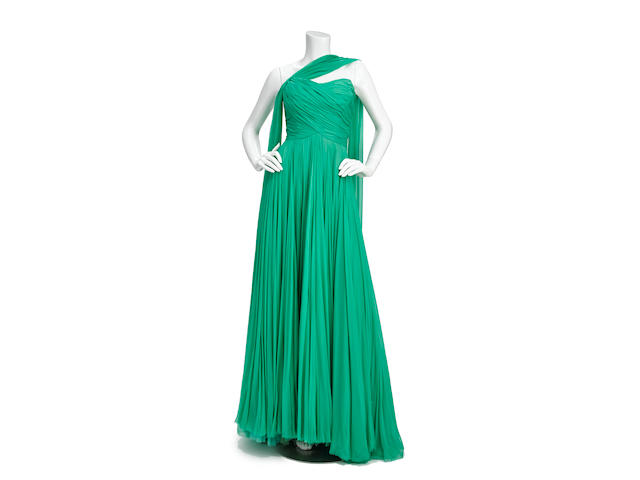A Maureen O'Hara green evening dress worn on The Andy Williams Show