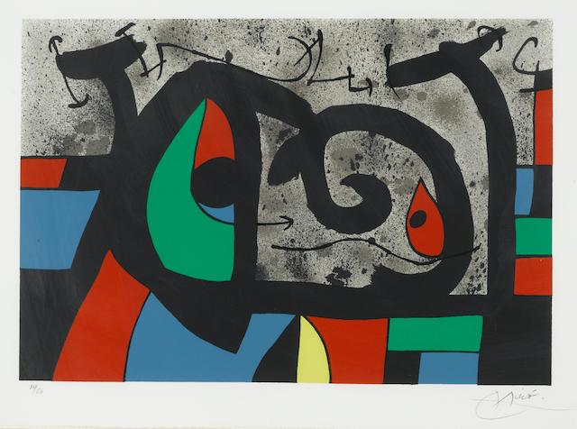 Joan Miró (1893-1983); Pl. 9, from Le lézard aux plumes d'or;