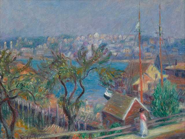 William Glackens (1870-1938) Gloucester, Massachusetts 18 x 24in (Painted in 1918.)