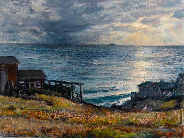 Joseph Kleitsch (1882-1931) Laguna coastal scene 30 1/2 x 40in (overall: 40 1/4 x 50 1/4in)