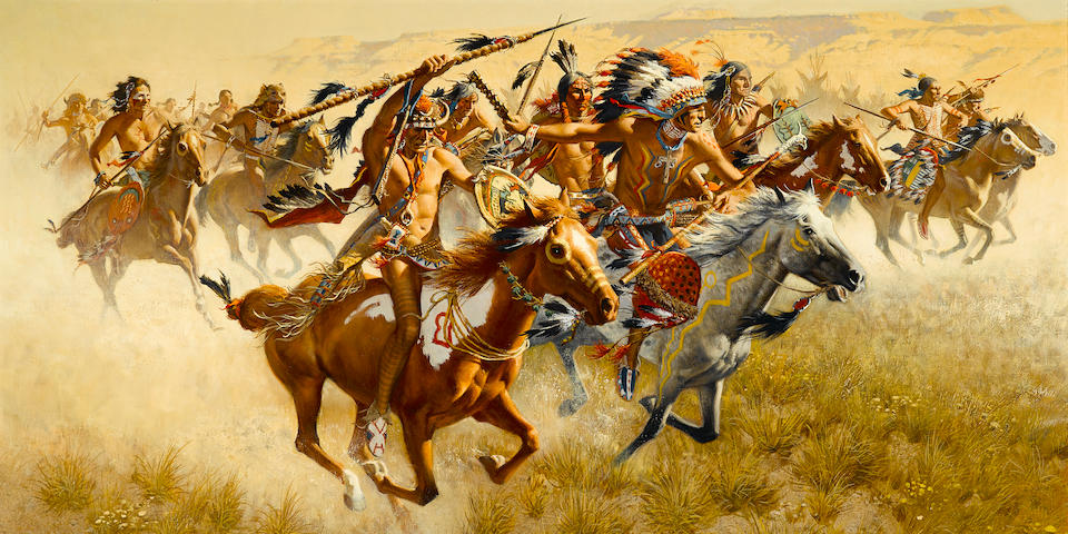 Frank McCarthy (1924-2002) The Rehearsal 24 x 40in overall: 34 x 50in (Painted in 1990)