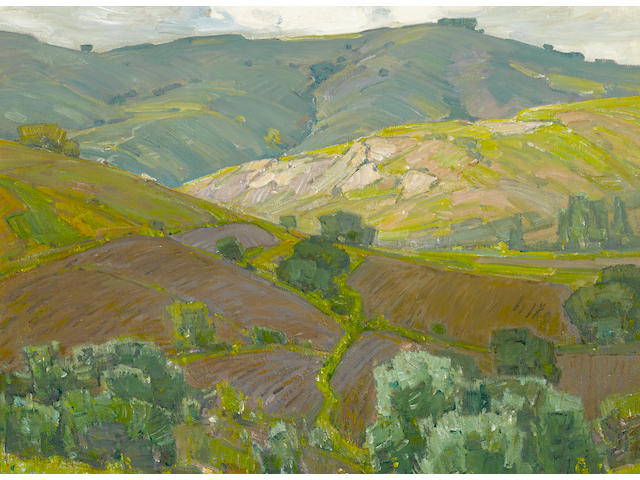 William Wendt (1865-1946) Plowed Fields 25 1/8 x 30 1/8in overall: 33 5/8 x 38 5/8in