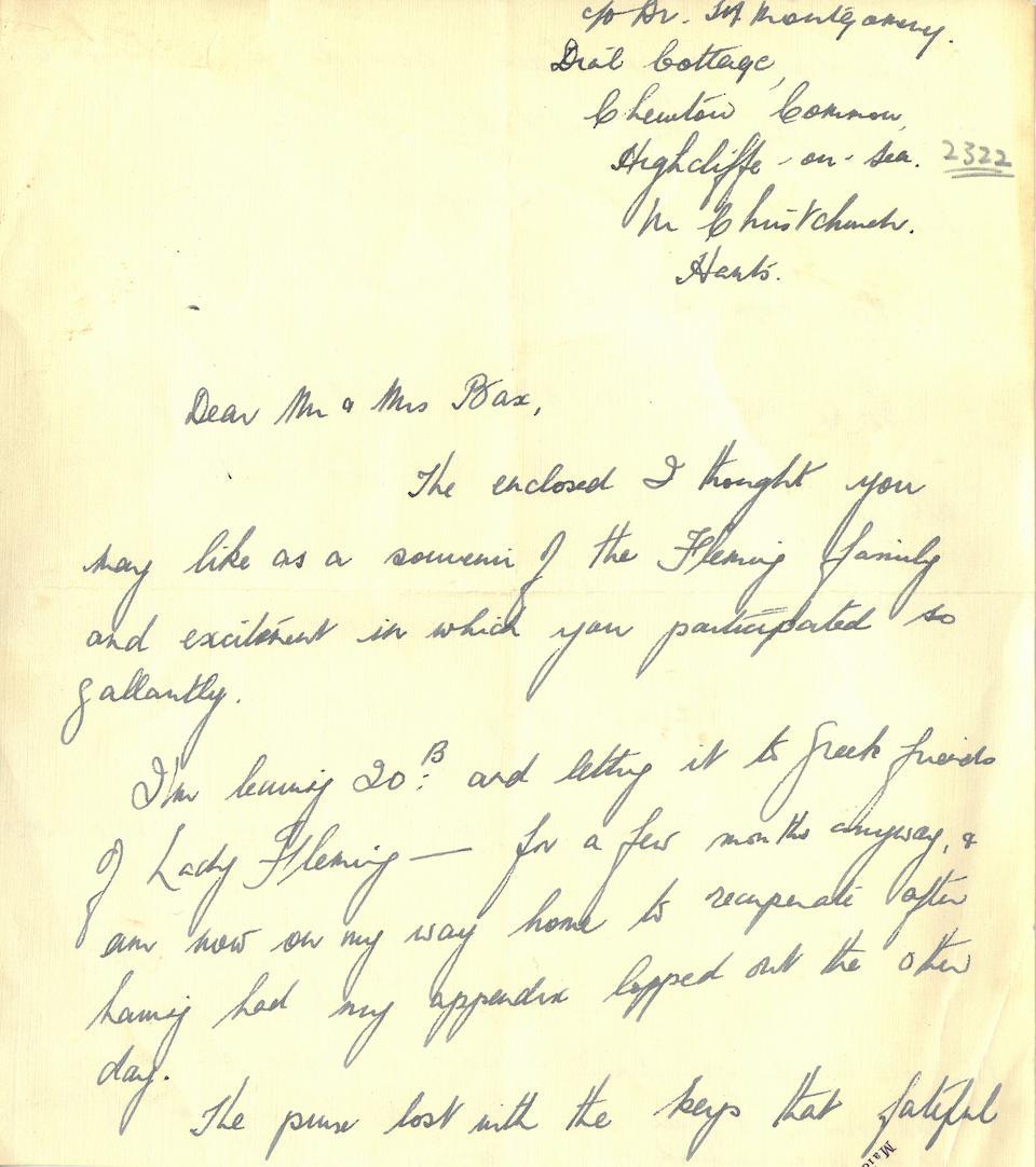 PENICILLIN. FLEMING, ALEXANDER. 1881-1955. Original Penicillin Mold culture,