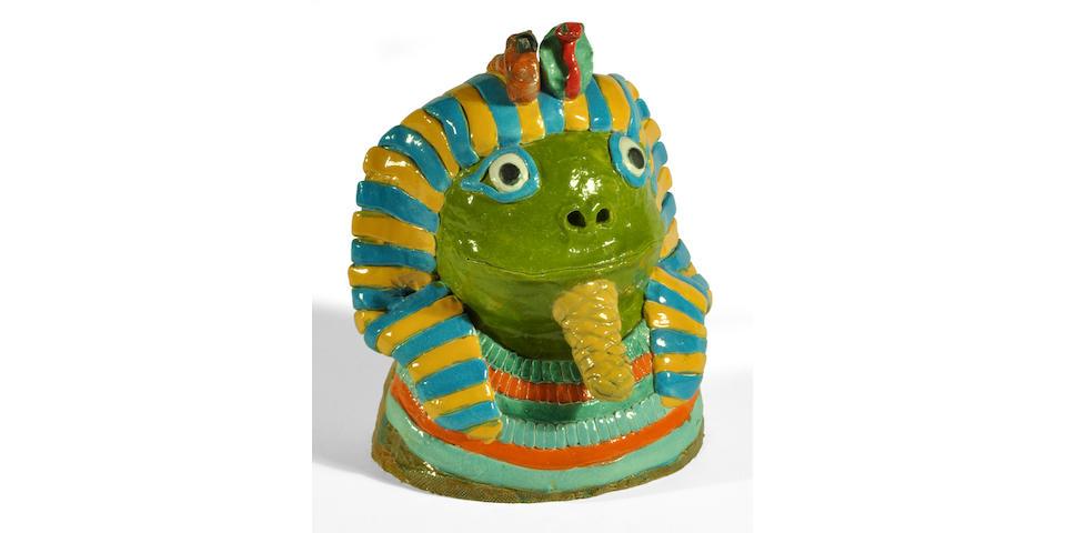 David James Gilhooly (1943-2013) Frog Tut, 1970 20 x 17 x 17 in. (50.8 x 43.2 x 43.2 cm)