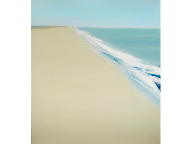 Gregory Kondos (born 1923) Beach, 1975 72 x 64 in. (182.9 x 162.6 cm)