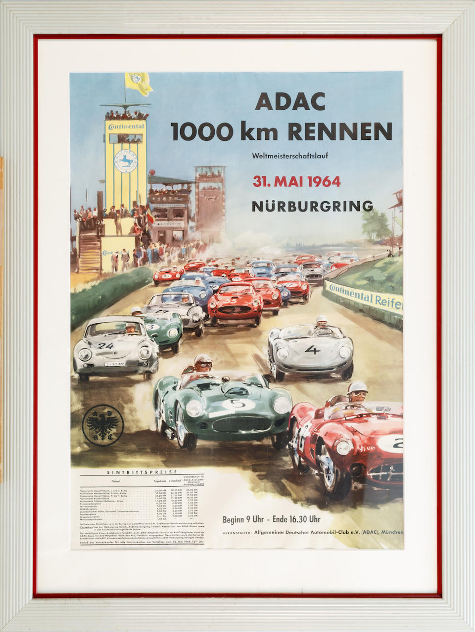 A group of German racing posters