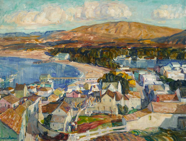 E. Charlton Fortune (1885-1969) Untitled (Monterey) 26 x 34in overall: 33 1/2 x 41 1/2in (Painted circa late 1920s)