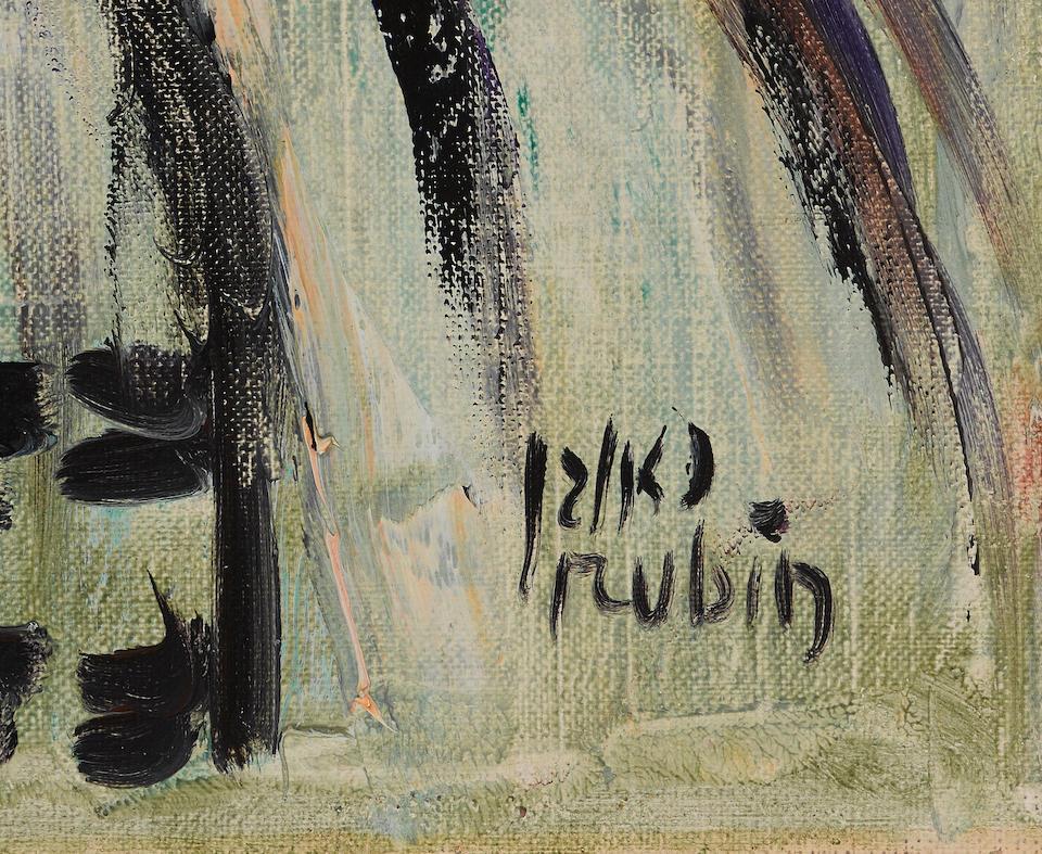 REUVEN RUBIN (1893-1974) The Rabbi 24 x 19 7/8 in (60 x 50 cm)