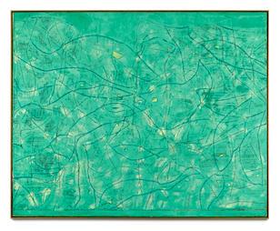 MAX ERNST (1891-1976) Tremblement de terre printanier 51 1/8 x 63 3/4 in (130 x 162 cm) (Painted in 1964)