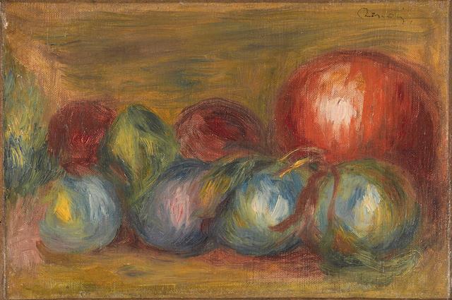 Pierre-Auguste Renoir (1841-1919) Les fruits 5 5/8 x 8 3/8 in (14 x 21 cm)