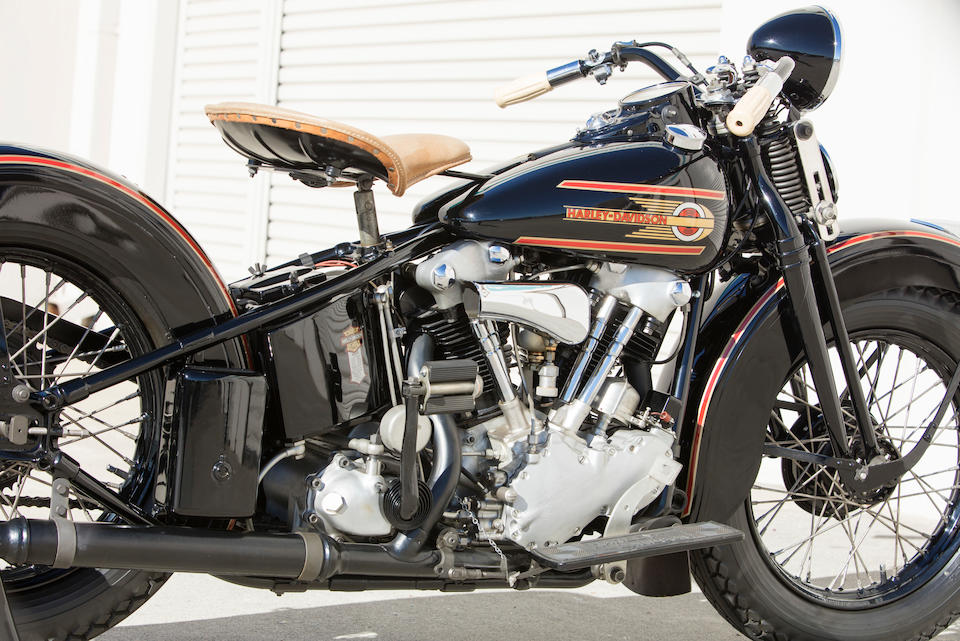 Offered From The Larry Bowman Collection,1937 Harley-Davidson EL Knucklehead Engine no. 37EL1115