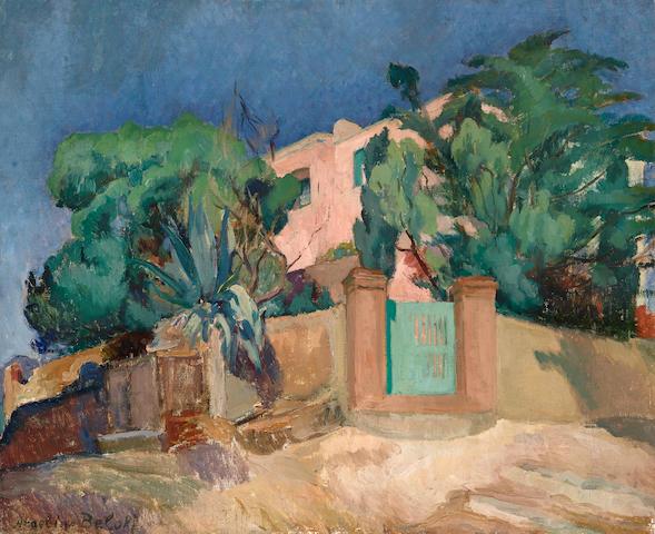 ANGELINA BELOFF (1884-1969) La maison rose  21 x 24 3/4 in (53 x 62.8 cm) (Painted circa 1914)