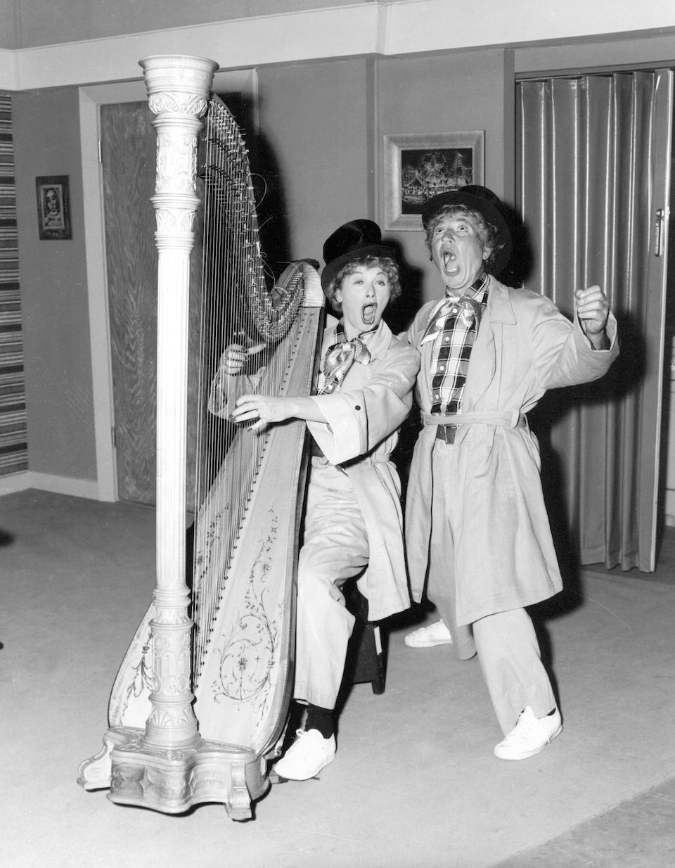 A Harpo Marx harp used on I Love Lucy