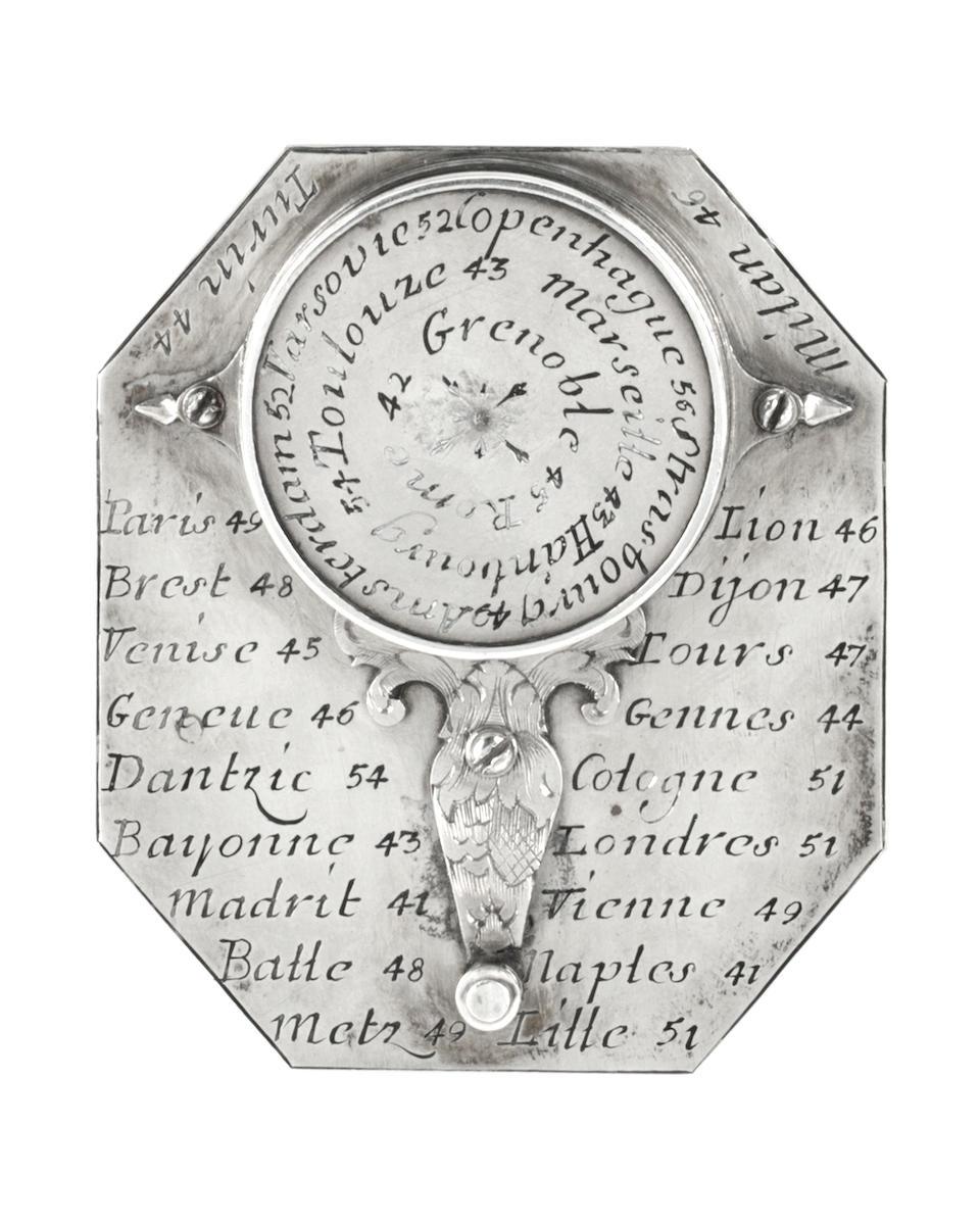 Nicolas Bion silver Butterfield dial.