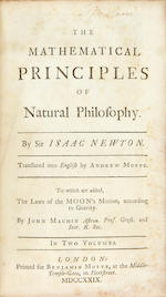 NEWTON, ISAAC. 1643-1727. The Mathematical Principles of Natural Philosophy. London: Benjamin Motte, 1729.