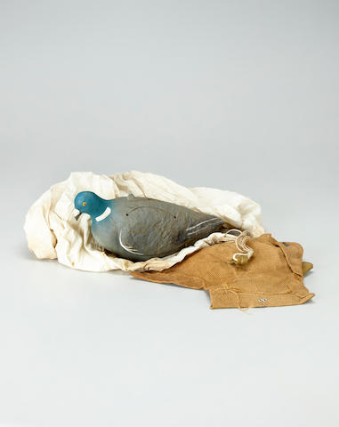 D-Day: A special pigeon parachute. A hessian pouch, early June 1944,