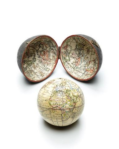 POCKET GLOBE.  CUSHEE, RICHARD. A New Globe of the Earth. London: R. Cushee, 1731.