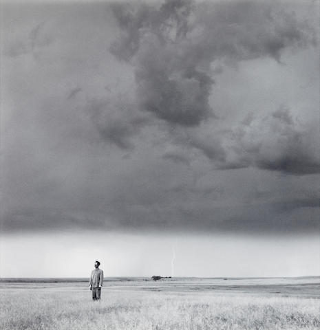 Tseng Kwong Chi (1950-1990), 曾廣智 Lightning Field, South Dakota 閃電區,南達科他州 (This work was taken in 1986 and printed in 1996. )