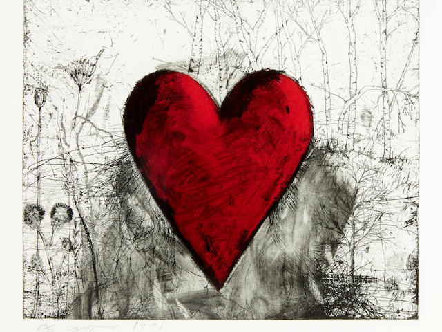 Jim Dine (born 1935); The Little Heart in a Landscape;