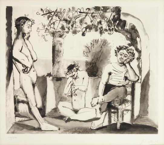 After Pablo Picasso (1881-1973); Bacchanale;