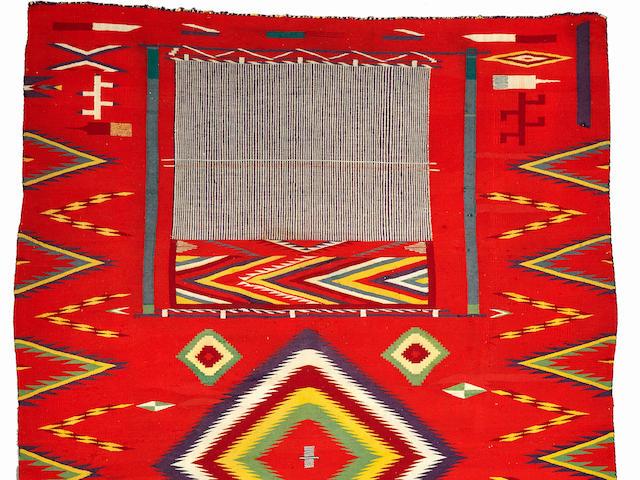 A Navajo Germantown pictorial weaving