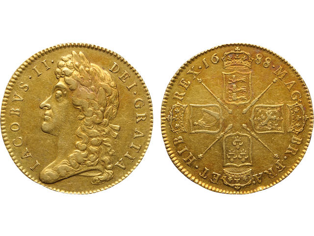 Great Britain, James II, 5 Pounds, 1688