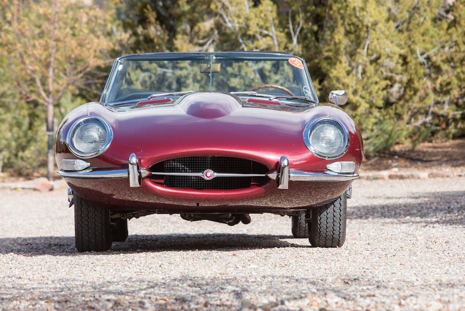 Exquisite restoration and matching numbers,1967 JAGUAR E-TYPE SERIES I 4.2 ROADSTER  Chassis no. 1E15362 Engine no. 7E13048-9
