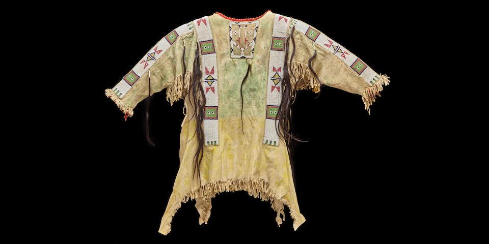 A Sioux beaded shirt