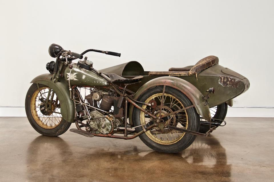 1929 EXCELSIOR SUPER X WITH SIDECAR Engine no. A6327