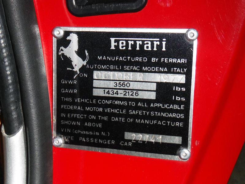 1977 FERRARI 308 GTBCoachwork by Scaglietti - Design by Pininfarina