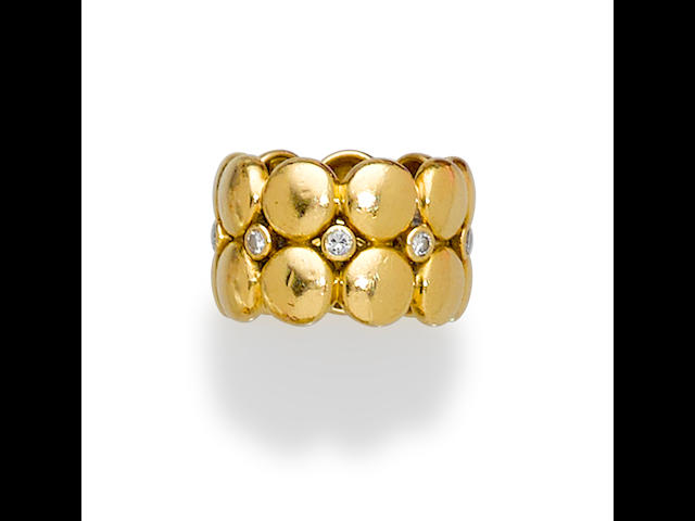 A diamond and 18K gold band, Cartier