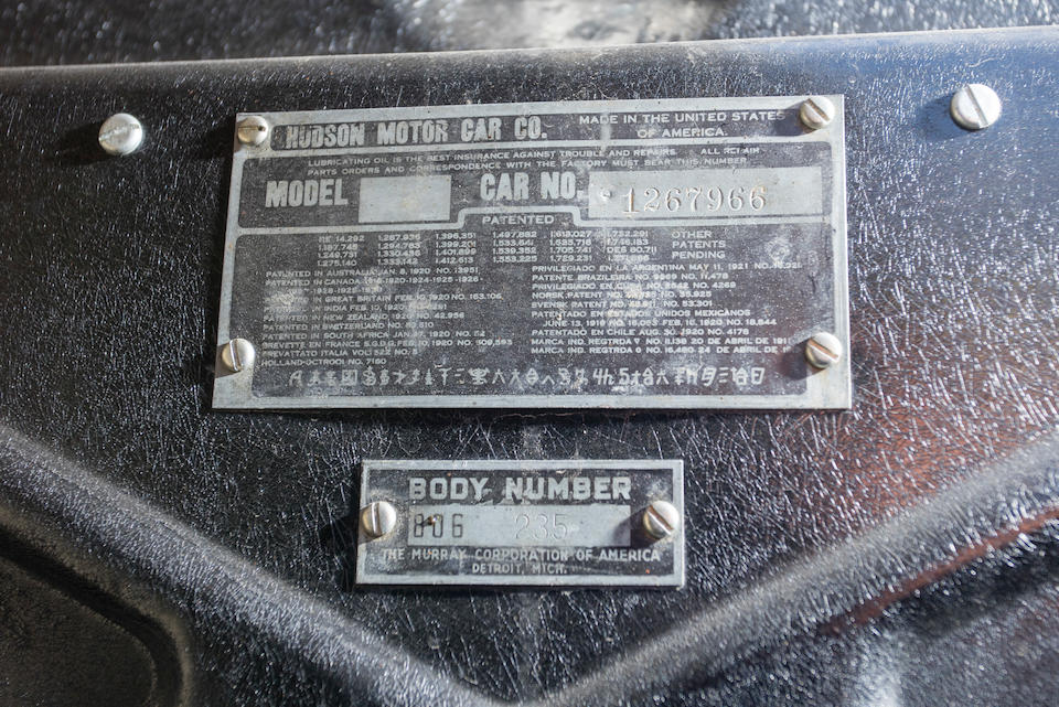 1931 ESSEX SUPER SIX BOATTAIL SPEEDABOUT  Chassis no. 1267966