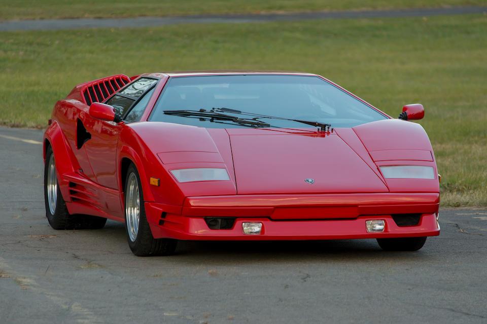 <B>1989 LAMBORGHINI  COUNTACH <i>25th ANNIVERSARY</i> COUPE<BR />Coachwork by Bertone<br /><br />VIN. ZA90A05A9KLA12699</b>