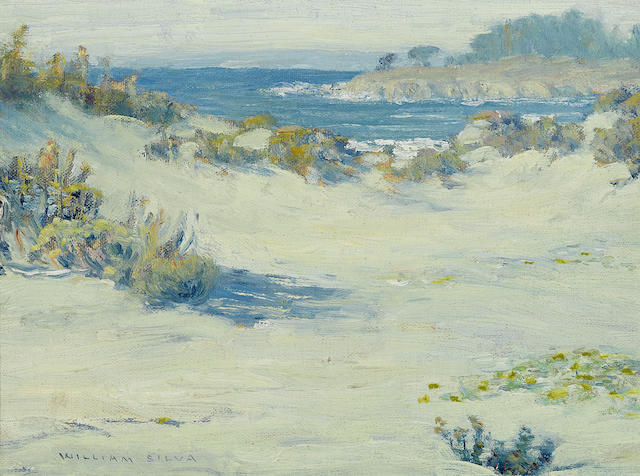 William Posey Silva (1859-1948) Opal Hues of Carmel, circa 1918 9 x 12in overall: 11 3/4 x 14 3/4in