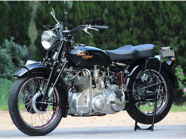 1949 Indian-Vincent Super Chief Frame no. RC4392 Engine no. F10AB/1/2492