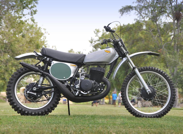 First-year model of Honda's landmark motocrosser,1973 Honda CR250M Elsinore Engine no. CR250ME-1001812