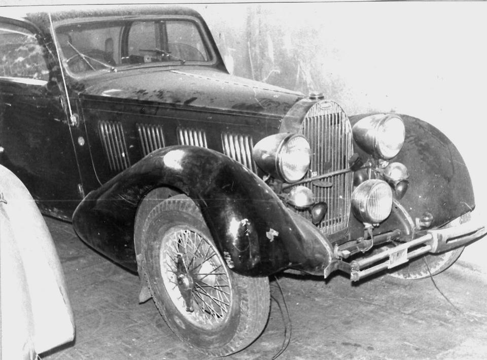 1937 Bugatti Type 57 Pillarless Sports Coupe   Chassis no. 57443 Engine no. (see text)